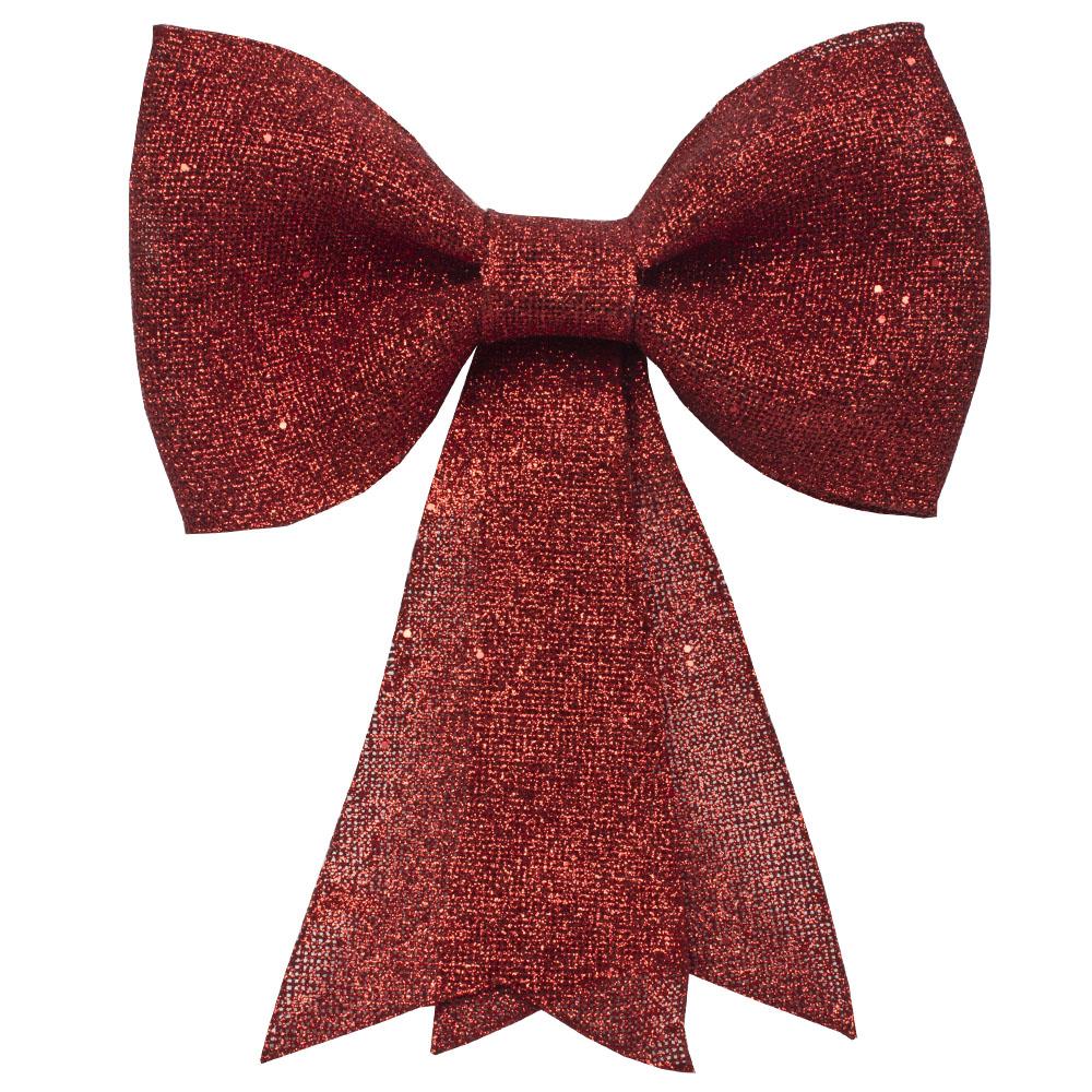 Red Glitzy Bow Decoration - 31cm X 40cm