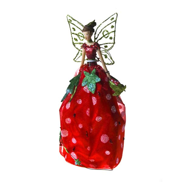 Gisela Graham Christmas Tree Topper: Gisela Graham 23cm Toadstool Fairy Tree Topper