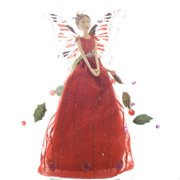 Gisela Graham Christmas Tree Topper: Gisela Graham Woodland Fruits Fairy Tree Topper