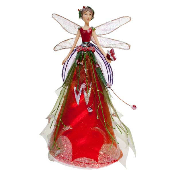 Gisela Graham Woodland Fairy Tree Topper - 18cm - Christmas Time UK