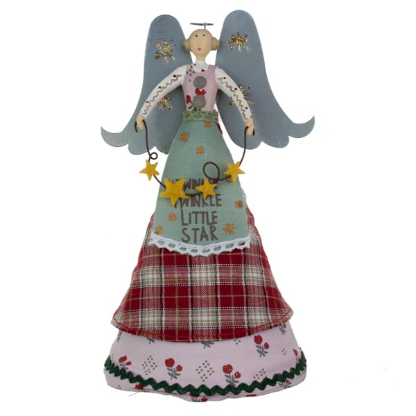Gisela Graham Christmas Tree Topper: Gisela Graham New England Angel Tree Topper