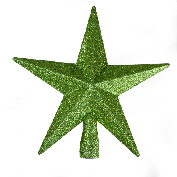 Green Glitter Finish Tree Top Star -20cm