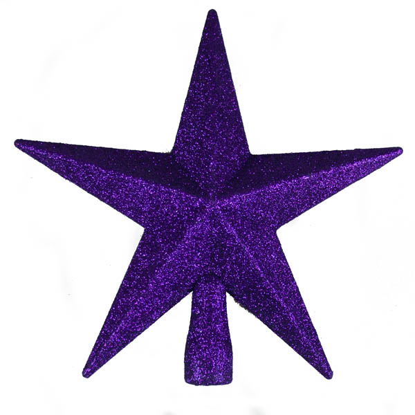 Purple Glitter Finish Tree Top Star -20cm