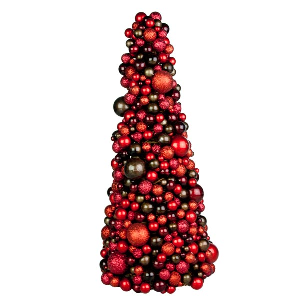 Rich Red & Brown Bauble Berry 48cm Tree