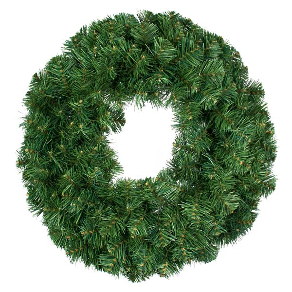 Natural Effect Green Pine Single Sided Wreath - 2m
