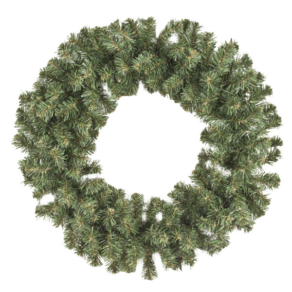 Natural Effect Green Pine Single Sided Wreath - 60cm