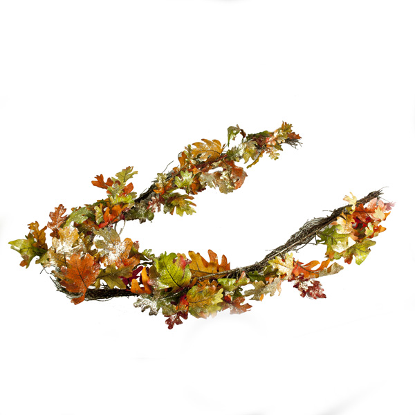 Gisela Graham Autumn Oak Leaf Garland - 1.5m