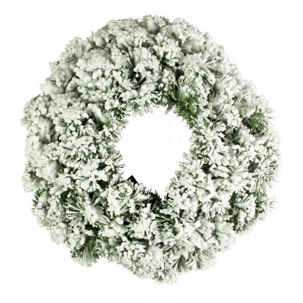 Artificial Green Pine Snow Effect Wreath - 45cm