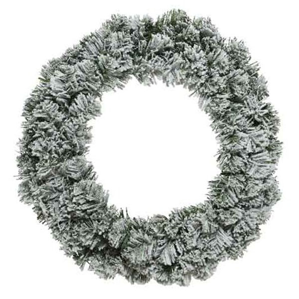Snowy Artificial Imperial Wreath - 120cm