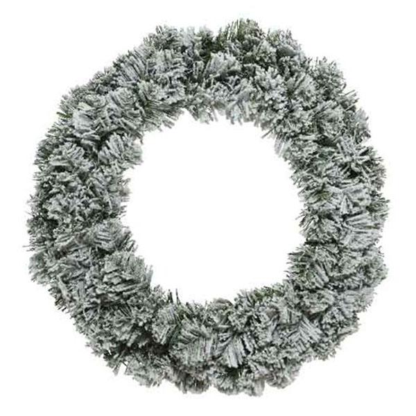 Snowy Artificial Imperial Wreath - 150cm
