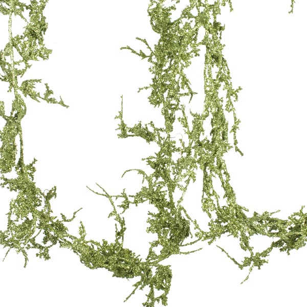 Green Glittered Coral Garland - 1.8m