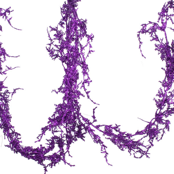 Purple Glittered Coral Garland - 1.8m