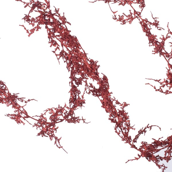 Red Glittered Coral Garland - 1.8m