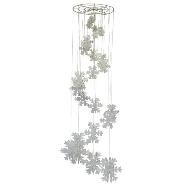 Spiral Snowflake Chandelier