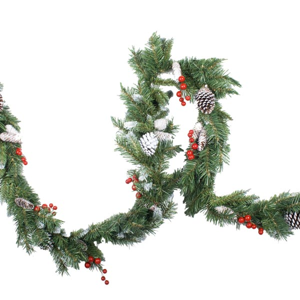 The Frosted Cone & Berry Range - 1.8m (6ft) Garland
