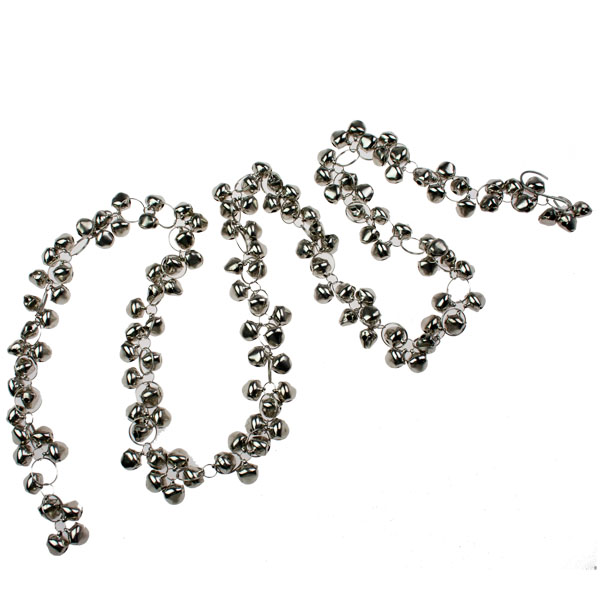 Silver Shiny Mini Jingle Bells Garland - 1.3m