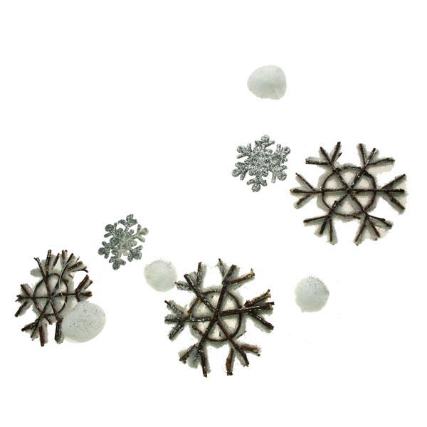 Silver Snowflake Garland - 120cm