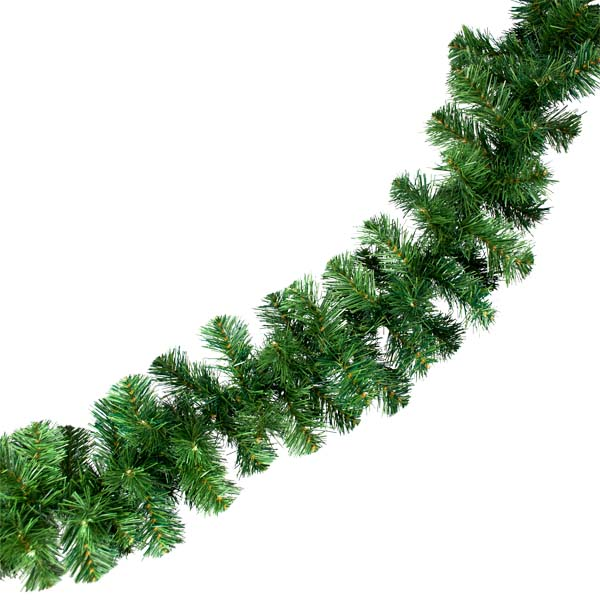 Natural Effect Green Pine Garland - 2.7m x 20cm