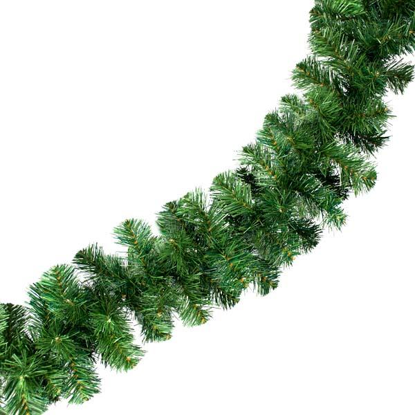 Natural Effect Green Pine Garland - 2.7m x 25cm