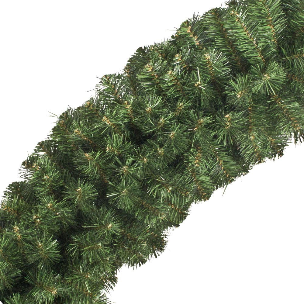 Natural Effect Green Pine Garland - 1.35m x 35cm
