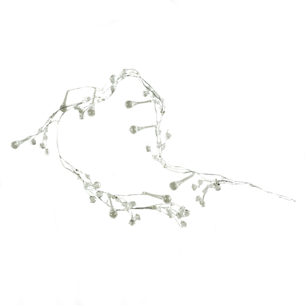 Metal Garland With Clear Acrylic Faux Diamonds - 110cm