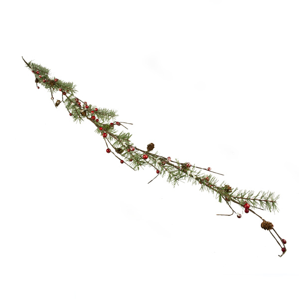 Snowy Berry & Pinecone Garland - 120cm