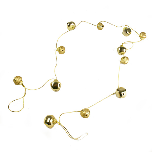Gold Shiny Jingle Bell Garland - 1.8m