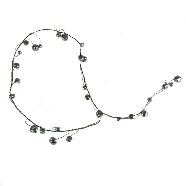 Shiny Silver Jingle Bell Garland  -  1.5m