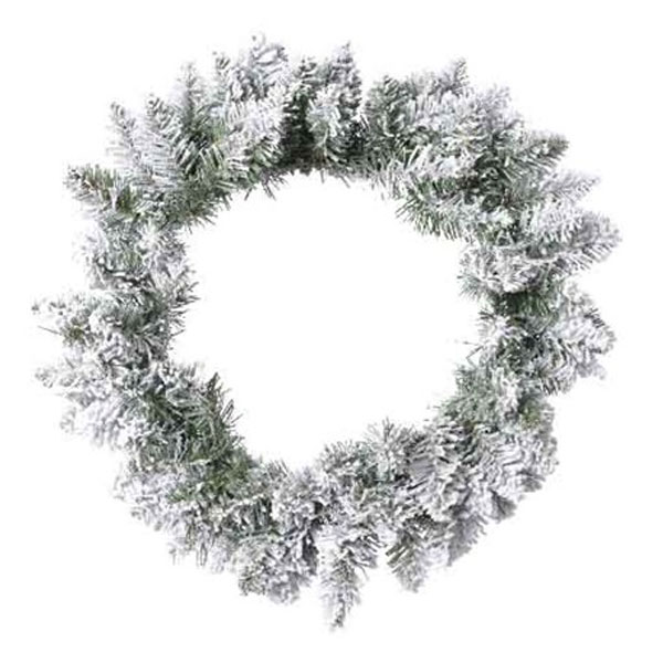 Snowy Green Artificial Pencil Wreath - 80cm