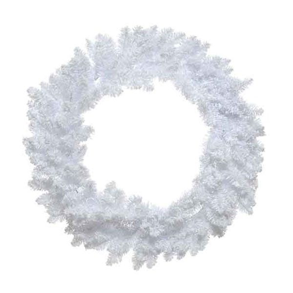 Snowy White Artificial Pencil Wreath - 80cm