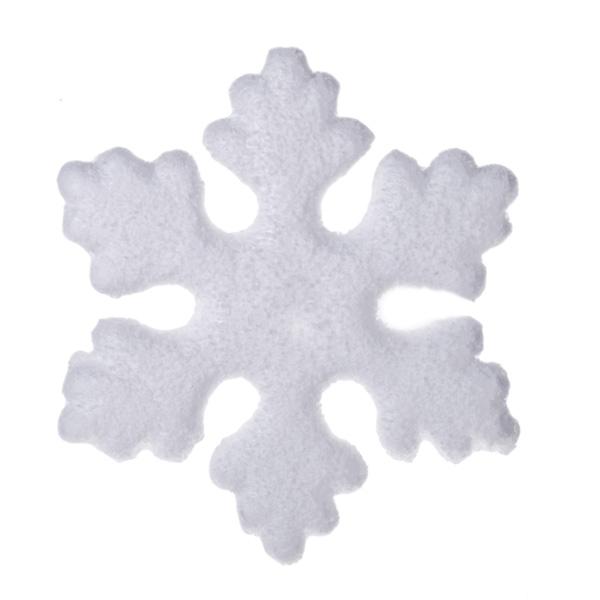 White Hanging Snowflake Decoration - 15cm