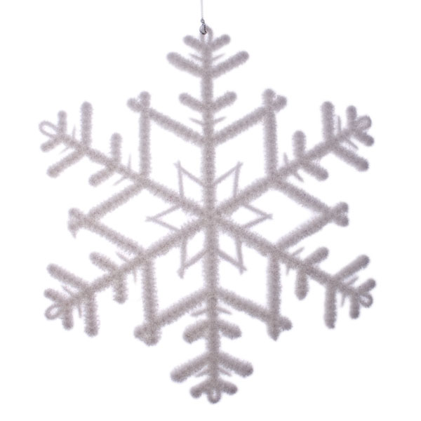 White Snowflake Decoration - 23cm X 26cm