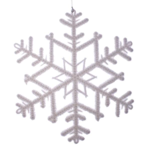White Snowflake Decoration - 23cm X 26cm