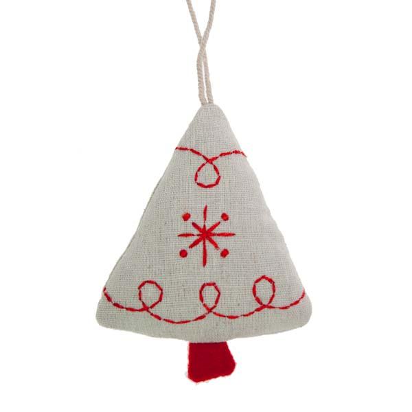 Fabric Tree Hanging Decoration - 10cm