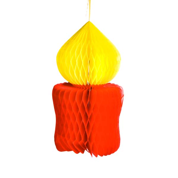 Red & Yellow Flame Resistant Paper Candle