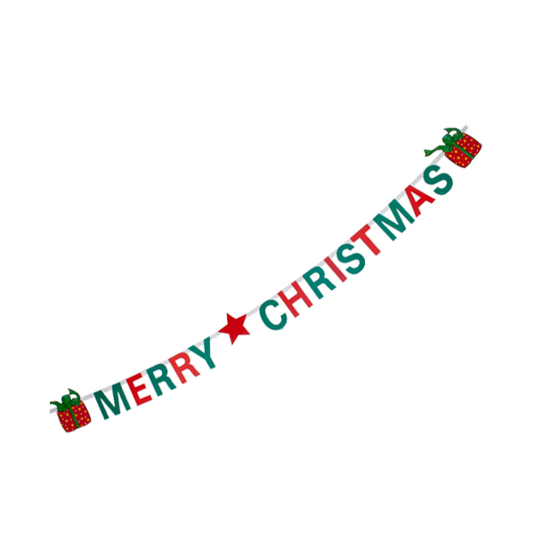 Merry Christmas Flame Retardant Banner - 2.5m