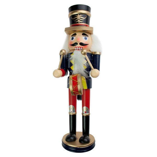 Blue Wooden Nutcracker Ornament - 30cm