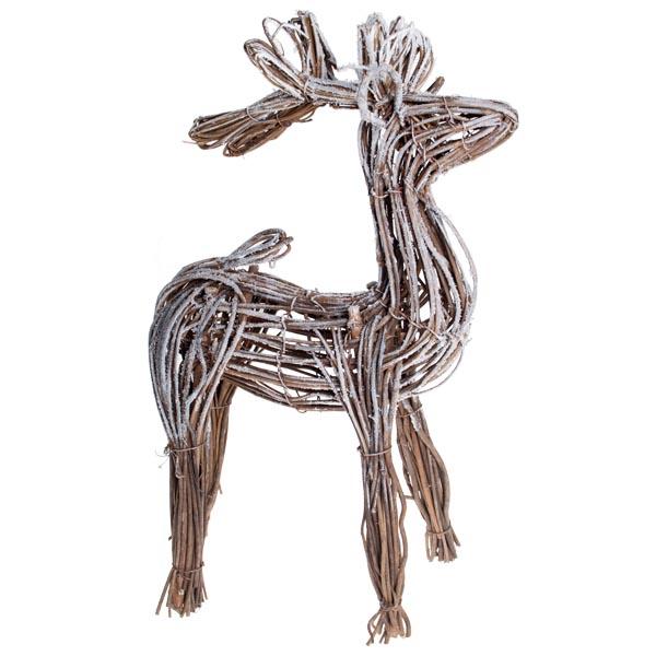 Gisela Graham Snowy Twig Reindeer Ornament 50cm