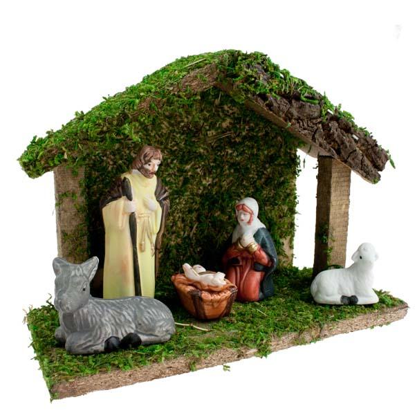 Five Piece Traditional Nativity Scene - 18cm