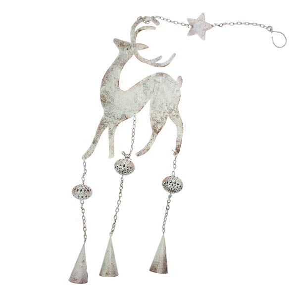 Rustic Male Reindeer Decoration - 70cm