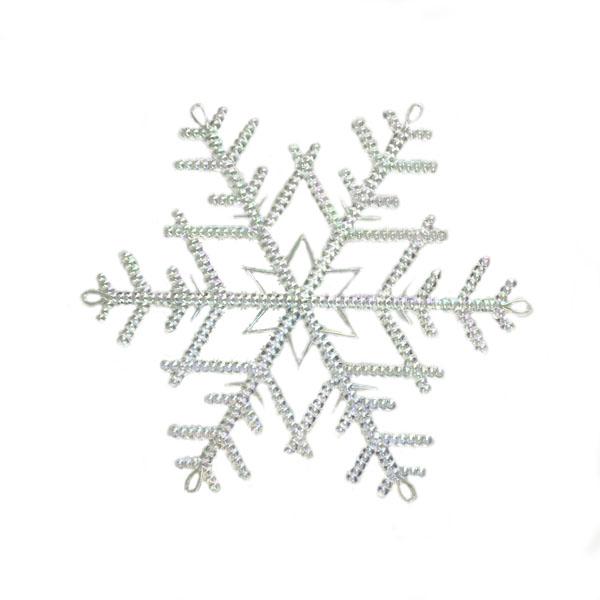 Iridescent Transparent Snowflake Hanger - 18cm