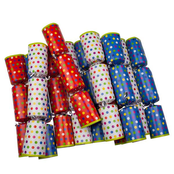 Dotty Christmas Crackers - 12 X 12