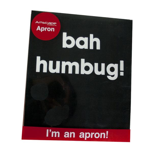 Santa Balls Apron - Black Bah Humbug