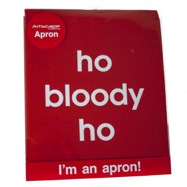 Santa Balls Apron - Red Ho Bloody Ho