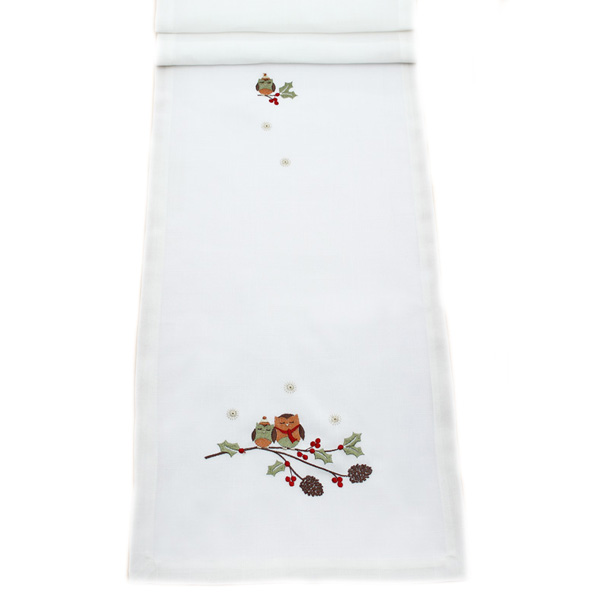 Peggy Wilkins Two Hoots Design Table Runner - 35cm X 190cm (14 X 75 Inches)