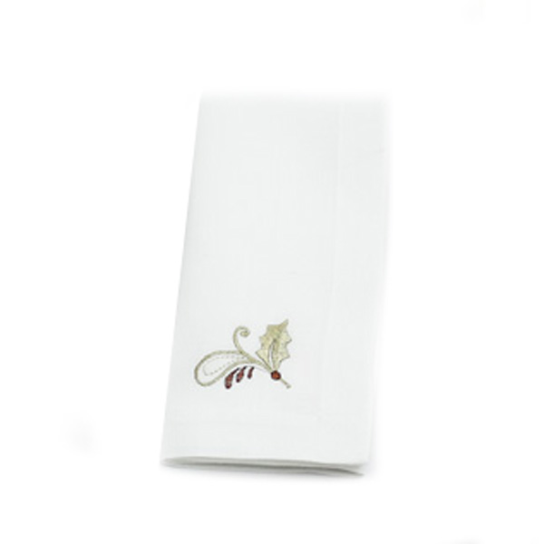 Peggy Wilkins Rustica Design Embroidered Pack of 4 Napkins