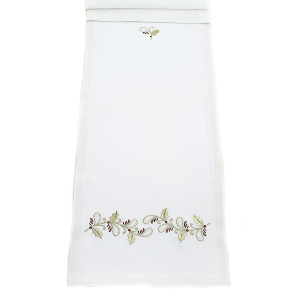 Peggy Wilkins Rustica Design Embroidered 35cm x 190cm Table Runner (14 x 75 Inches)