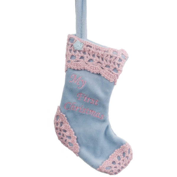 My First Christmas Blue Stocking - 19cm