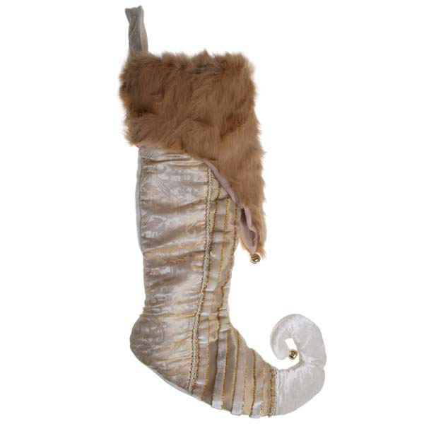 Luxury Christmas Stockings Uk.Luxury Gold Ivory Fabric Stocking 30cm X 62cm