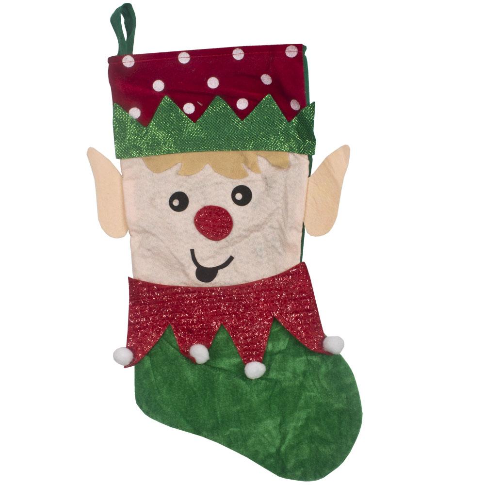 Felt Elf Character Stocking - 50cm